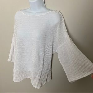 Eileen Fisher Organic Linen Bell Sleeve Sweater